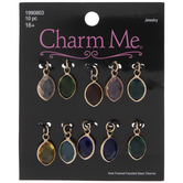 Transparent Oval Faceted Charms