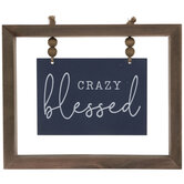 Crazy Blessed Wood Decor