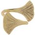 Gold Ginkgo Metal Napkin Ring