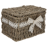 Seagrass & Lace Ribbon Box