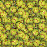 Softballs Cotton Calico Fabric