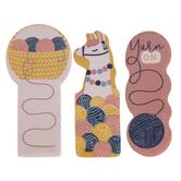 Pink Yarn On Sticky Notes