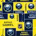 NHL Buffalo Sabres Block Fleece Fabric