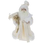 White Santa With Gift Sack Tree Topper