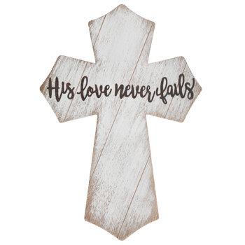 His Love Wood Wall Cross