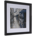 Blue & Gray Street Cafe Framed Wall Decor