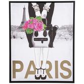 Lady Holding Purse Paris Canvas Wall Decor