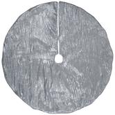 Silver Crinkle Satin Tree Skirt
