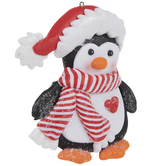 Penguin With Striped Scarf Ornament
