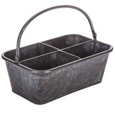 Galvanized Metal Divided Bucket with Handle