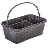 Galvanized Metal Divided Bucket