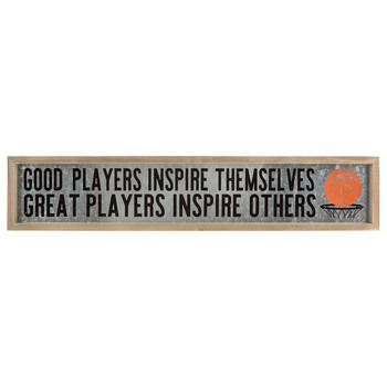 Good Players Inspire Themselves Metal Wall Decor