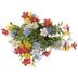 Blue, Red & Yellow Mini Mix Flower Bush