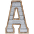 Galvanized Metal Letter Wall Decor - A