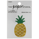 Pineapple Glitter & Rhinestone Sticker