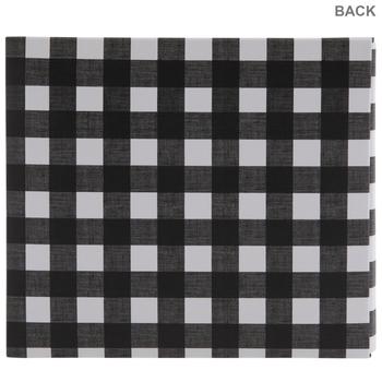 "Black & White Buffalo Check Post Bound Scrapbook Album - 6"" x 6"""