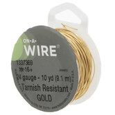 Gold Non-Tarnish Wire - 24 Gauge