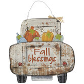 Fall Blessings Truck Bed Wood Wall Decor