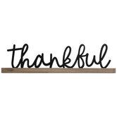 Thankful Wood Decor