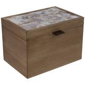 Capiz Shell Tiled Wood Box