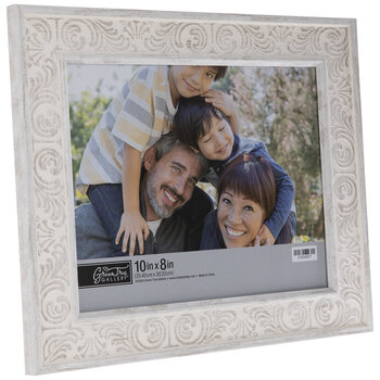 """Gray Floral Scroll Frame - 10"""" x 8"""""""
