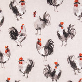 Rooster Linen Duck Cloth Fabric