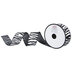 Zebra Print Wired Edge Burlap Ribbon - 1 1/2