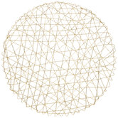 Round Woven Tinsel Placemat