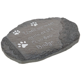 Rainbow Bridge Lace & Paws Stepping Stone