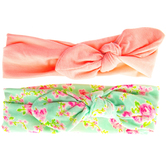 Pink & Floral Tie Fabric Headbands