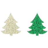 Green & Olive Pine Tree Embellishments