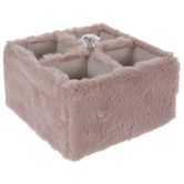 Pink Faux Fur Rotating Caddy
