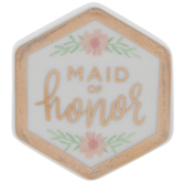 Maid Of Honor Hexagon Pin