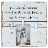 Remember The Memories Wood Clip Collage Frame