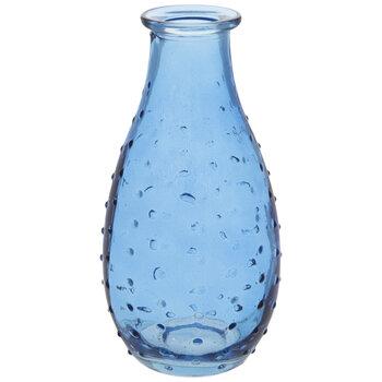 Blue Hobnail Glass Vase