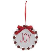 Joy Beaded Wreath Ornament