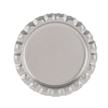 Silver Metal Bottle Cap Embellishments