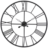 Matte Black Metal Wall Clock