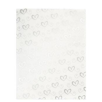 """Silver Swirl Hearts Vellum Paper - 8 1/2"""" x 11"""""""
