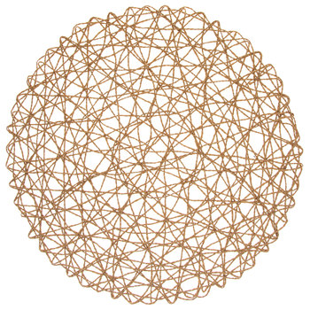Round Woven Paper Placemats