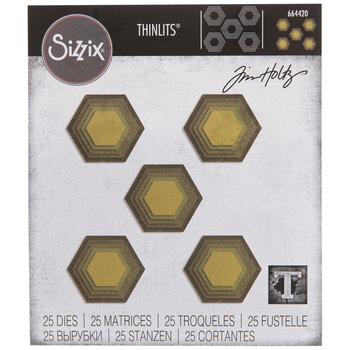 Sizzix Thinlits Stacked Tile Hexagons Dies