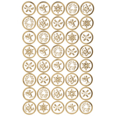 Gold Foil Christmas Label Stickers