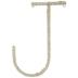 Cornstalk Wrapped Letter Wall Decor - J