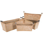 Whitewash Rectangle Basket Set