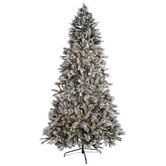Flocked Bedford Pine Pre-Lit Christmas Tree - 9'