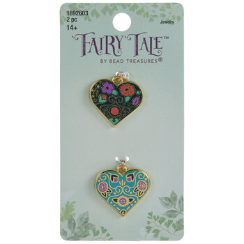 Floral Heart Charms