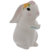 White Standing Bunny Holding Book