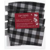 Black & White Buffalo Check Cup Cozies