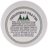 White & Green Christmas Prayer Plate