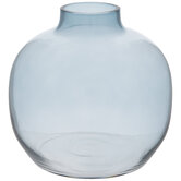 Blue Round Glass Vase